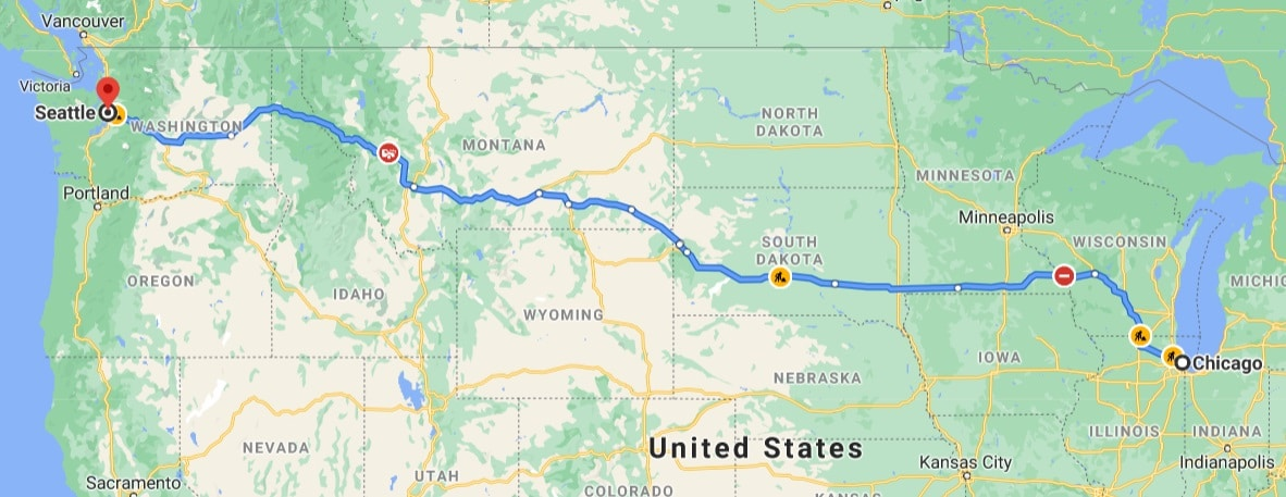 seattle to chicago via south dakota