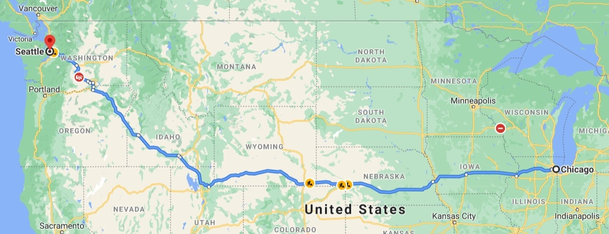 chicago to seattle via nebraska